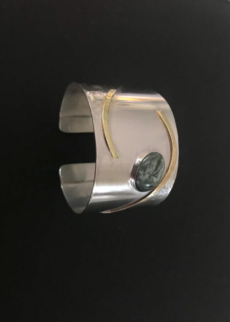 Floating Silver & Brass Bracelet - Mary Page Jones Jewelry