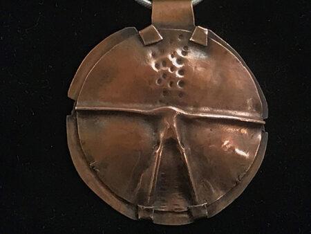 Folded Copper Pendant - Mary Page Jones Jewelry