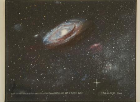 MG4 Spiral Galaxy - Oil on Canvas - Bob Gordon Jones Art