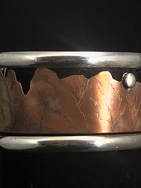 Mountain Rise Sterling Silver & Copper Ring - Mary Page Jones Jewelry
