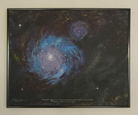 Spiral Galaxy Oil on Canvas - Bob Gordon Jones Art