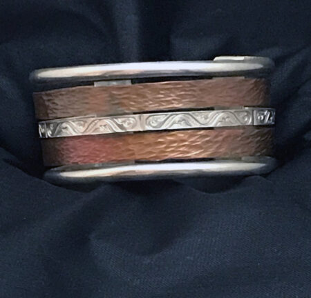Variety - Sterling Silver & Copper Bracelet - Mary Page Jones Jewelry