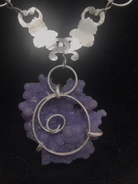 Manakarra Grape Agate Necklace Back View- Mary Page Jewelry