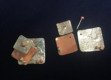 Silver And Copper Earrings-Mary Page Jones Jewelry