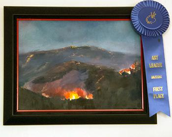 Gun Barrel Fire - Cody Art League Winner - Bob Gordon Jones