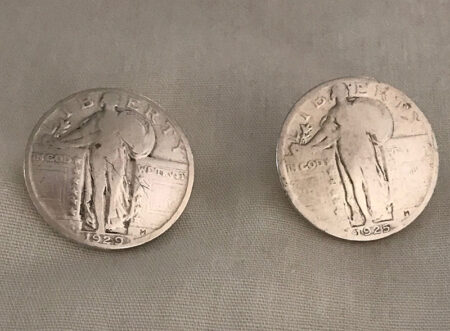 Lady Liberty Solid Silver Coins - Mary Page Jones Jewelry